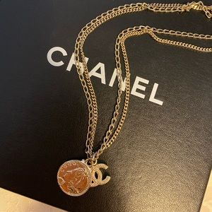 💯Authentic Chanel Coco Mademoiselle Coin Necklace